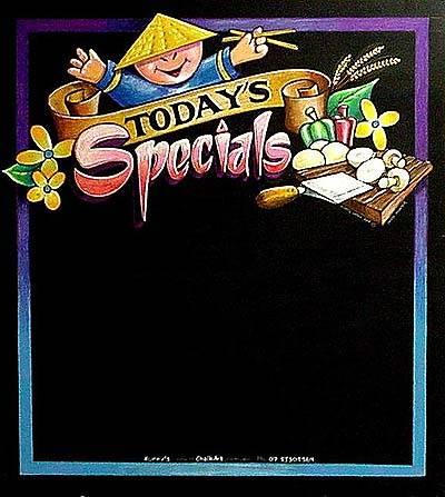 Restaurant daily special menu template